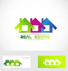 Houses logo real estate vector