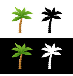 Icons of palm tree vector