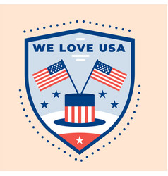 Independence day badge design vector