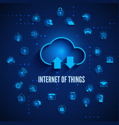 internet things iot concept cloud and other vector image