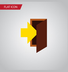 Isolated entrance flat icon entry element vector