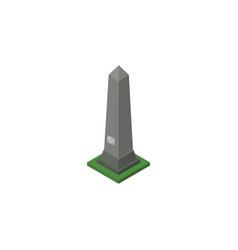Isolated washington monument isometric dc vector