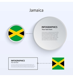 Jamaica country set banners vector