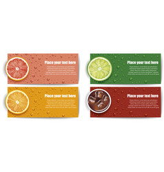 Juice background with lime grapefruit orange vector