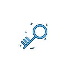 Key security object protection safety icon desige vector