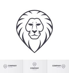 Lion head vector image
