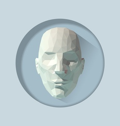 Low poly human head vector