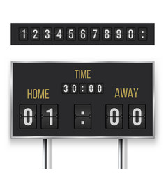 mechanical score board information and indicator vector image