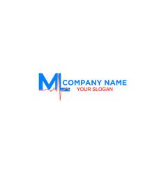 Ml medical pharmacy logo design vector