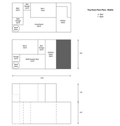 Mobile tiny house floor plan vector