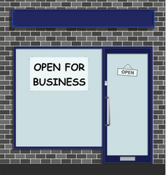 Open for business vector