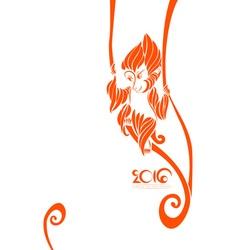 Orange symbol of 2016 year vector