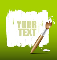 Paint brush green background vector