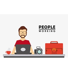 people working design vector image