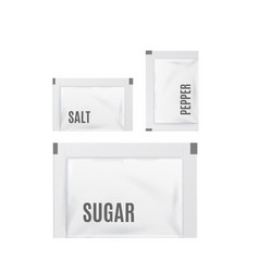 realistic detailed 3d white salt sugar and pepper vector image
