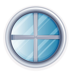 round window painted in white vector image