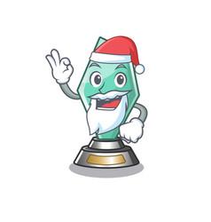 Santa acrylic trophy stored in cartoon drawer vector