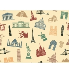 Seamless background tourist attractions vector image vector image