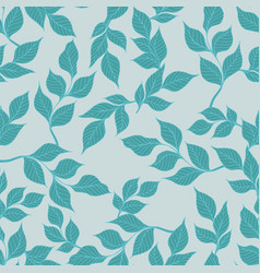 seamless pattern with branches for design vector image