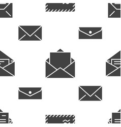 seamless pattern with envelopes flat glyph icons vector image