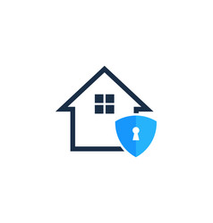 security house logo icon design vector image