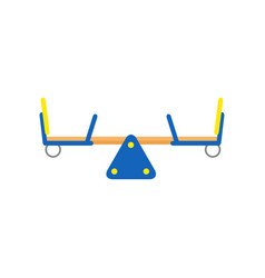 Seesaw or teeter-totter for children playground vector