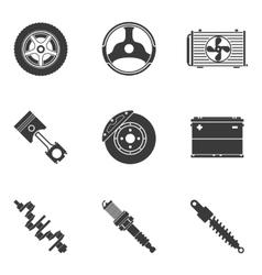 set auto spare parts vector image
