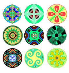 set ethnic tribal design elements american vector image