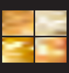 set of abstract golden blurred background vector image