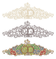 set of wedding renaissance borders vector image