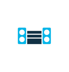 sound system icon colored symbol premium quality vector image