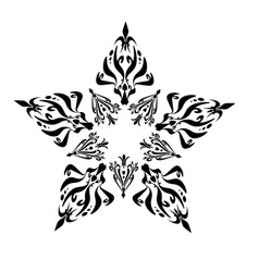 Star with tribal vector