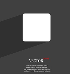 stop button icon symbol Flat modern web design vector image