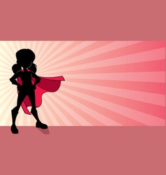 Super girl ray light silhouette vector