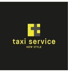 Taxi Logos sign Abstract geometrical vector image