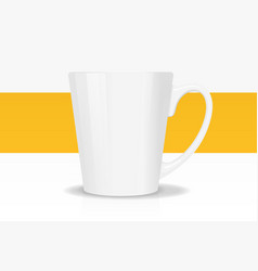 template ceramic white mug with vector image