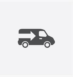 Truck arrow icon vector