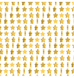 Unusual seamless pattern cute yellow stars are vector