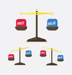 Value and price balance on the scale vector