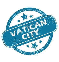 VATICAN CITY round stamp vector image