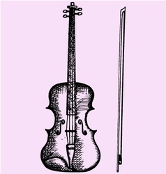 Violin bow vector image
