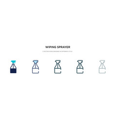 Wiping sprayer icon in different style two vector