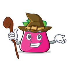 Witch purse character cartoon style vector