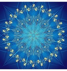 Blue vintage frame vector image