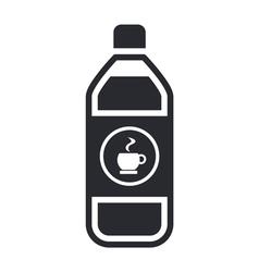 coffee bottle icon vector image vector image