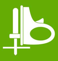 cordless reciprocating saw icon green vector image