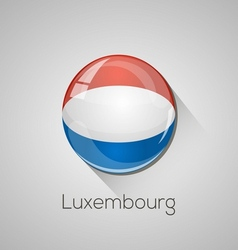 European flags set - Luxembourg vector image