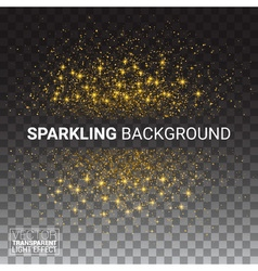 luxury transparency background with gold sparklers vector image vector image