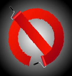 Not allow signl from paint roller brush vector image