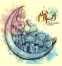 Ramadan kareem generous ramadan background for vector